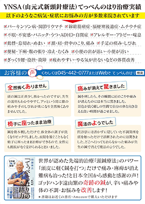 YNSA頭鍼&美容鍼サロン てっぺんのはり そごう横浜店 治療実績